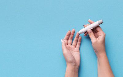 Léčba inzulinem a snížený příjem potravy